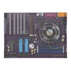 Computer Motherboard CPU Tyvek® Card Wallet