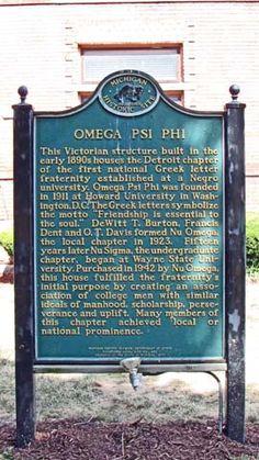 Omega Psi Phi Fraternity House Detroit Omega Psi Phi, Zeta Phi Beta, Delta Sigma Theta, Alpha Kappa Alpha, Divine Nine, Sorority Sisters, Black History Facts, Sorority And Fraternity, Greek Life