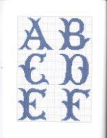 "Gallery.ru / OlgaHS - Альбом ""9"" Cross Stitch Alphabet Patterns, Cross Stitch Letters, Cross Stitch Designs, Stitch Patterns, Cross Stitching, Cross Stitch Embroidery, Plastic Canvas Letters, Needlepoint Designs, Embroidery Monogram"