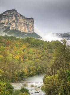 Gorges de la Bourne in  the rain by fenlandsnapper, via Flickr
