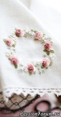 Wonderful Ribbon Embroidery Flowers by Hand Ideas. Enchanting Ribbon Embroidery Flowers by Hand Ideas. Hardanger Embroidery, Rose Embroidery, Learn Embroidery, Embroidery For Beginners, Silk Ribbon Embroidery, Hand Embroidery Patterns, Embroidery Kits, Embroidery Techniques, Embroidery Needles