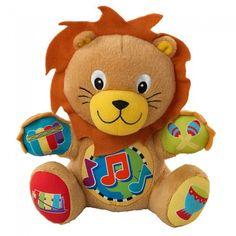 Brinquedo Infantil Musical Educativo para Aprender sobre Sons de Instrumentos Musicais Baby Einstein Press & Play - Leão - Brinquedos - Bebês e Infantil