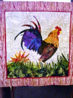Big Rooster - applique quilt pattern. | Quilting | Pinterest | Big ... : rooster quilt patterns - Adamdwight.com