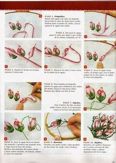 silk ribbon for embroidery supplies Ribbon Embroidery Tutorial, Border Embroidery Designs, Ribbon Flower Tutorial, Hand Embroidery Flowers, Embroidery Patterns Free, Silk Ribbon Embroidery, Embroidery Applique, Embroidery Supplies, Bow Tutorial