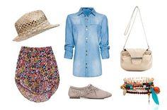 #Look 'casual' de #primavera con camisa vaquera y falda de flores