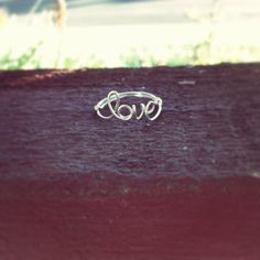 Love ring Word ring Sterling Silver by wiredforfreedom on Etsy, $35.00