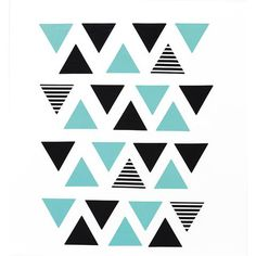 triangle Wall Decor Pack roomates Wall Stickers