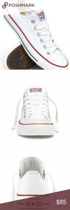 White CONVERSE CHUCK TAYLOR ALL STAR Converse All start Core OX sneakers Converse Shoes Sneakers