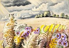 September Wind Artwork by Charles Burchfield