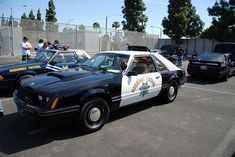 CALIFORNIA HIGHWAY PATROL (CHP) - 1982 FORD MUSTANG 5.0 FOXBODY HATCHBACK by Navymailman, via Flickr Mustang Emblem, Emergency Vehicles, Police Vehicles, Fox Mustang, Old Police Cars, California Highway Patrol, Los Angeles Police Department, Pony Car, State Police