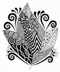 Zentangle Leaf 2 by Nancy Tellier - Zentangle Leaf 2 Drawing . Folk Embroidery, Embroidery Patterns, September Art, Art Videos For Kids, Zentangle Patterns, Zentangles, Outline Drawings, Art Birthday, Drawing For Kids