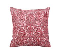 7 Sizes Available: Red Throw Pillow Cover Decorative Pillow Red Pillow Cover Red Damask Pillow Red Paisley Pillow 17x17 20x20 24x24