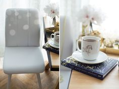 table, chair, decoration, photo: Kasia Bobocińska Mugs, Chair, Decoration, Tableware, Home, Decor, Dinnerware, Tumblers, Tablewares