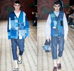Junya Watanabe 2015 Spring Summer Mens Runway Catwalk Looks Collection - Mode à Paris Fashion Week Homme Mode Masculine France - Twill Denim...