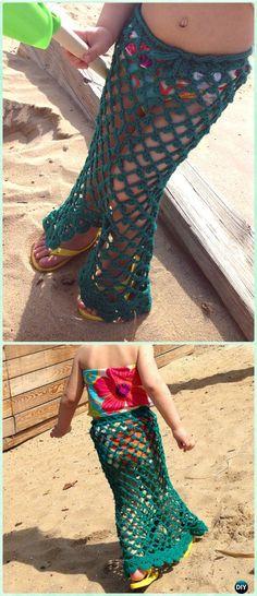 Crochet Little Mermaid Skirt Free Pattern - #Crochet Girls Skirt Free Patterns