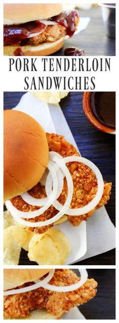 Pork Tenderloin Sandwiches - A Dash of Sanity