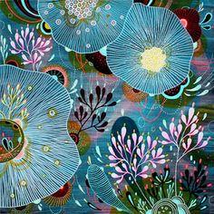 """Spell"" by Yellena James ~ floral art Flower Pattern Drawing, Drawing Flowers, Yellena James, Illustrations, Illustration Art, Arte Sketchbook, Alcohol Ink Art, Painting Inspiration, Flower Art"