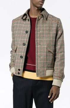 PRADA houndstooth checked jacket from Farfetch (men, style, fashion, clothing, shopping, recommendations, stylish, menswear, male, streetstyle, inspo, outfit, fall, winter, spring, summer, personal #ad)