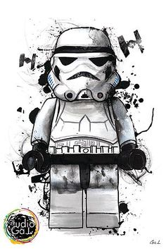Star Wars: Lego Stormtrooper - Star Wars Stormtroopers - Ideas of Star Wars Stormtroopers - Star Wars: Lego Stormtrooper Lego Stormtrooper, Stormtrooper Tattoo, Lego Batman, Batman Art, Images Star Wars, Star Wars Pictures, Star Wars Jokes, Star Wars Facts, Lego Star Wars
