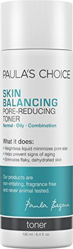 Paula's Choice Skin Balancing Pore-Reducing Toner with Antioxidants for Large Pores and Oily Skin - oz undefined undefined Best Facial Toner, Facial Care, Brand Review, Skin Cleanse, Minimize Pores, How To Get Rid Of Acne, Healthy Skin Care, Oily Skin, Skin Toner
