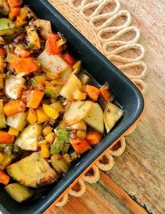 Cantinho Vegetariano: Legumes Assados do Jamie Oliver (vegana)