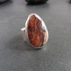 Handmade Sterling Silver, Sterling Silver Rings, Agate Ring, Crazy Lace Agate, Handmade Jewellery, Sale Items, Gemstone Rings, Band, Gemstones