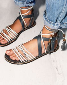 The Willow leather tassel sandal