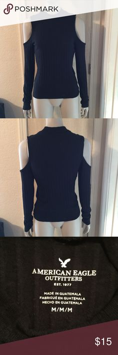 American Eagle Outfitters Cold-Shoulders American Eagle Outfitters Cold-Shoulders Shirt! Very cute and in very good condition. no holes, stains, wears or tears!  American Eagle Outfitters Tops Tees - Long Sleeve