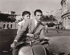 Roman Holiday with Gregory Peck and Audrey Hepburn