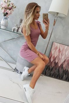 Rochie sport de vara roz cu volane pe maneca Denim Skirt, Casual, Skirts, Stuff To Buy, Fashion, Moda, Fashion Styles, Skirt