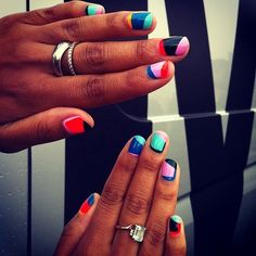 Nail Art / MADELINE POOLE NAILS - Aysia Bell in various Floss Gloss and Ginger   Liz colors