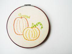 Pumpkin Patch Embroidery Hoop Wall Art