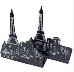 Fanaticism Freiheitsstatue Buchstützen aus Metall, schwarz,die Form des Eiffelturms