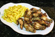 Recetas fáciles de cocina: Alitas de pollo al ajillo.
