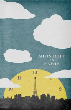 Graphic Design & Illustration / Midnight In Paris Poster / Minimal Movie Posters, Minimal Poster, Ode An Die Freude, Poster Minimalista, Paris Art, Alternative Movie Posters, Design Web, Smart Design, Grafik Design
