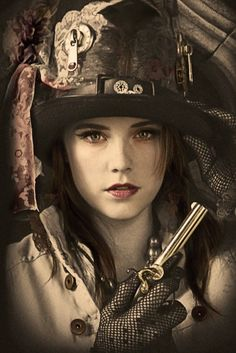 Steampunk its more than an aesthetic style, it's the longing for the past that never was. In Steampunk Girls we display professional pictures, and illustrations of Steampunk, Dieselpunk and other anachronistic 'punks. Some cosplay too! Moda Steampunk, Steampunk Couture, Viktorianischer Steampunk, Steampunk Clothing, Steampunk Fashion, Steampunk Assassin, Steampunk Makeup, Steampunk Emporium, Steampunk Female