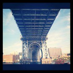 View from the east river ferry, Williamsburg Bridge, Brooklyn New York #brooklyn