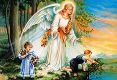 Ängel vakar över barn