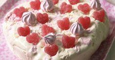 Enkel iskake i hjerteform