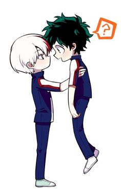 That's cute but I don't ship them. Deku is so light because he has paper skin and stick bones