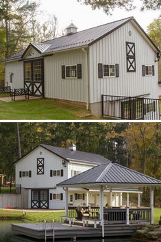 45 Durable & Beautiful Steel Homes That You Have To See - House Topics Steel homes are on their uptrend currently, because they have long life time, are very durable, fast to built and eye-catching too! Residential Steel Buildings, Metal Buildings, Metal Building Homes, Building A House, Steel Homes, Steel Frame House, House Plans, Living Spaces, Shed