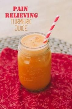 How To Make A Pain Relieving Turmeric Juice Recipe. This might be perfect to get rid of arthritis pain.