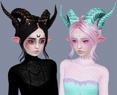 Sims 3 Anime Finds: Tera Horns Conversion by Ribbon Sims The Sims, Sims 4 Teen, Sims 5, Best Sims, Sims 4 Cas, Sims 3 Cc Finds, Sims 4 Anime, Sims 4 Traits, Sims 3 Mods