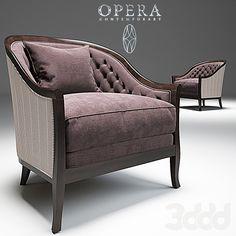 Marta Classic Armchair _Opera
