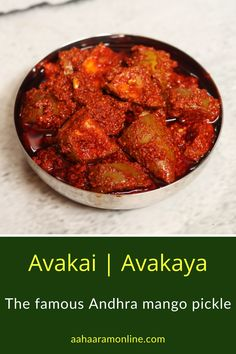 Good quality mustard and chilli powders are the key making a robust, spicy Avakai. Mix some in hot rice topped with ghee, and you will experience delight at its best. Andhra Recipes, Ethnic Recipes, Mustard Pickles, Red Chilli, Spice Mixes, Chutney, Sauces, Vegetarian Recipes, Spicy