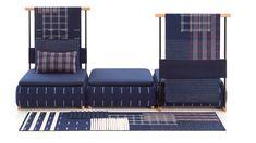 Neri&Hu design modular rug, screen and sofa collection for Gan.