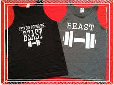 Free Shipping-Cute Gay Couple Matching Tshirts Beast Style