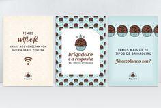 Bistrô Brigaderia | Carinhas - Design & Ilustração Glace Cake, Logo Doce, Business Card Design, Business Cards, Chocolate Packaging, Le Chef, Confectionery, Packaging Design, Diy And Crafts