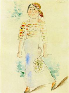 Catalan Woman - Pablo Picasso 1911