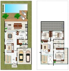 Indoor Plants: Modern Designs That Can Inspire You . House Layout Plans, Dream House Plans, Modern House Plans, House Layouts, Small House Plans, Modern House Design, House Floor Plans, The Plan, How To Plan